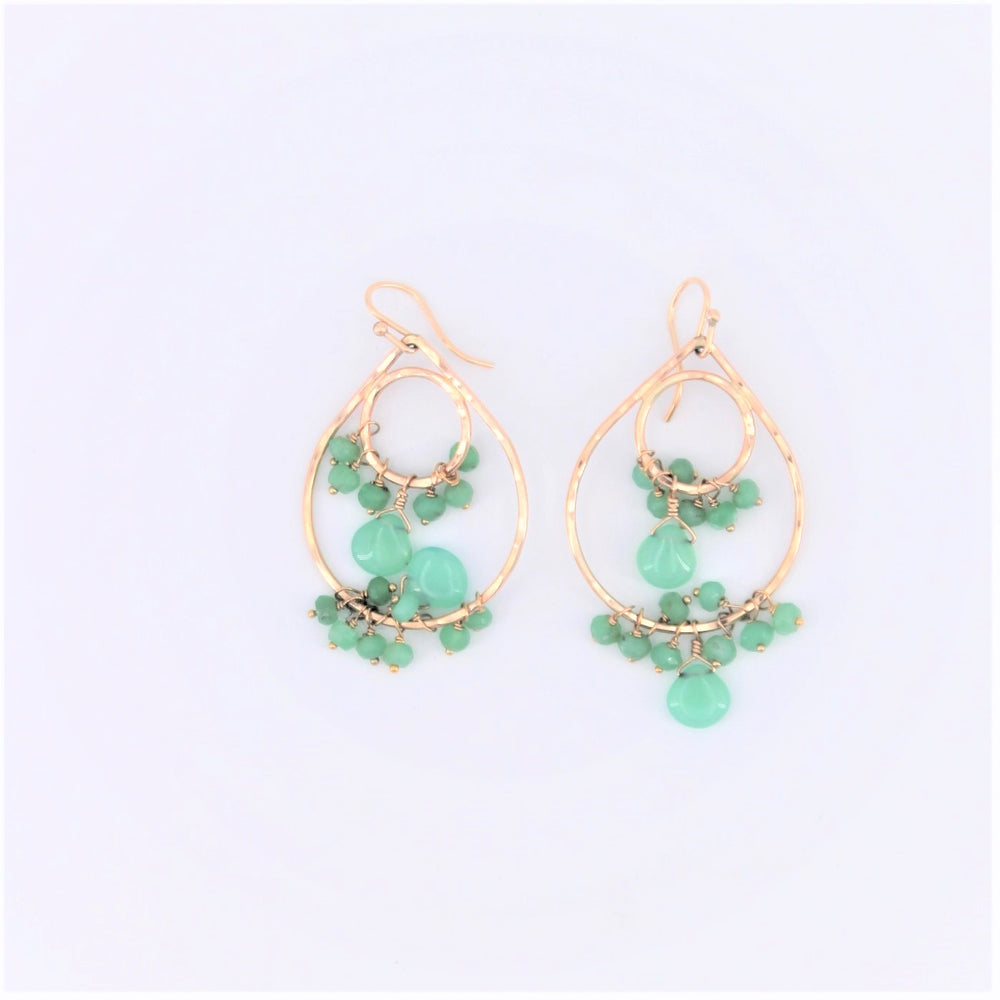 Chrysoprase Double Chandelier Earrings