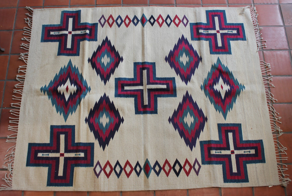 Large Square Zapotec Rug