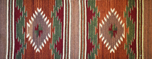 Zapotec Small Handwoven Wool Rug Runner