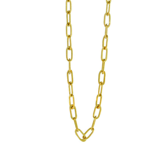 22K GOLD THIN OVAL CHAIN