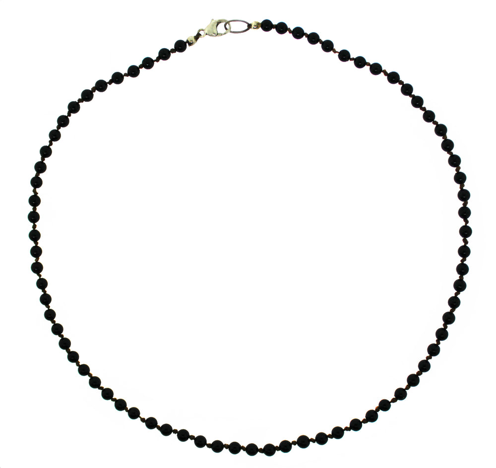 Onyx Hand Knotted Necklace
