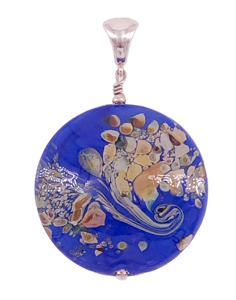 Large Circle Blue Pendant