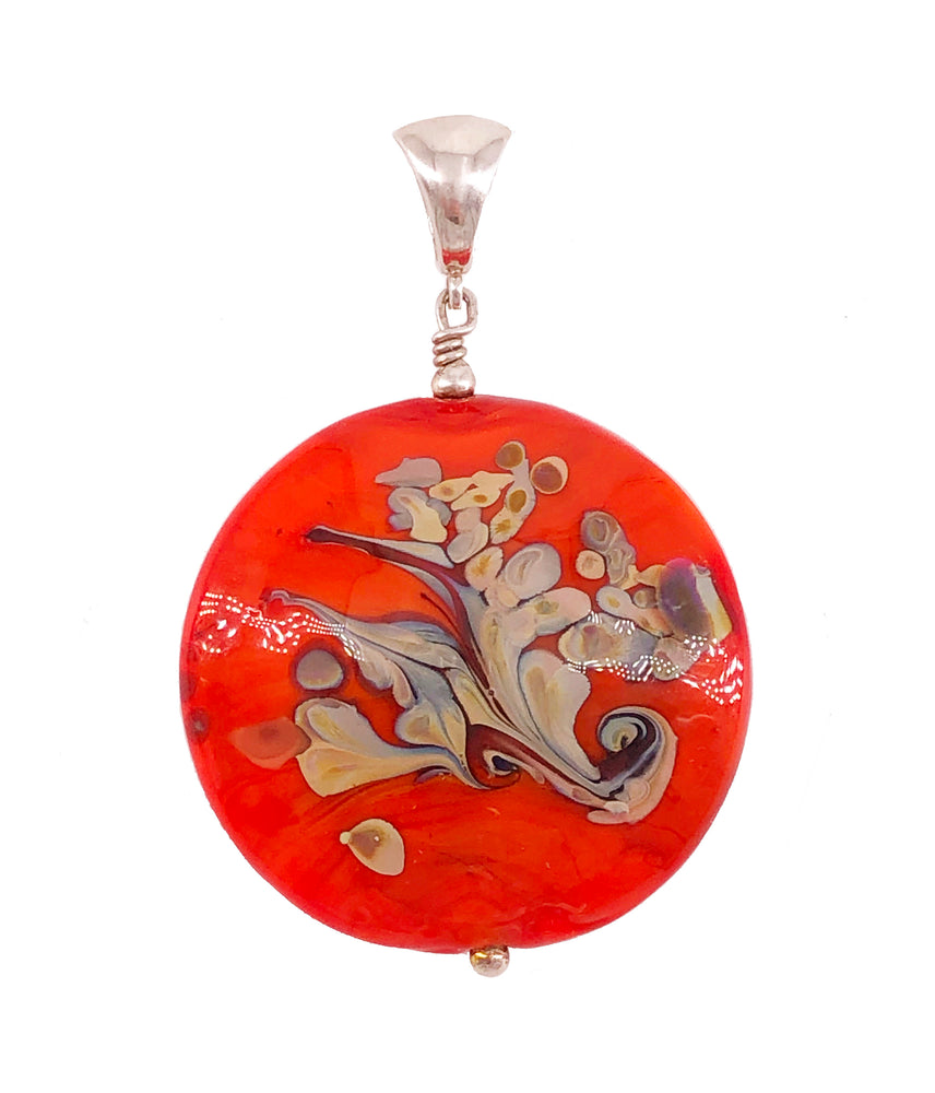 Large Circle Red Pendant
