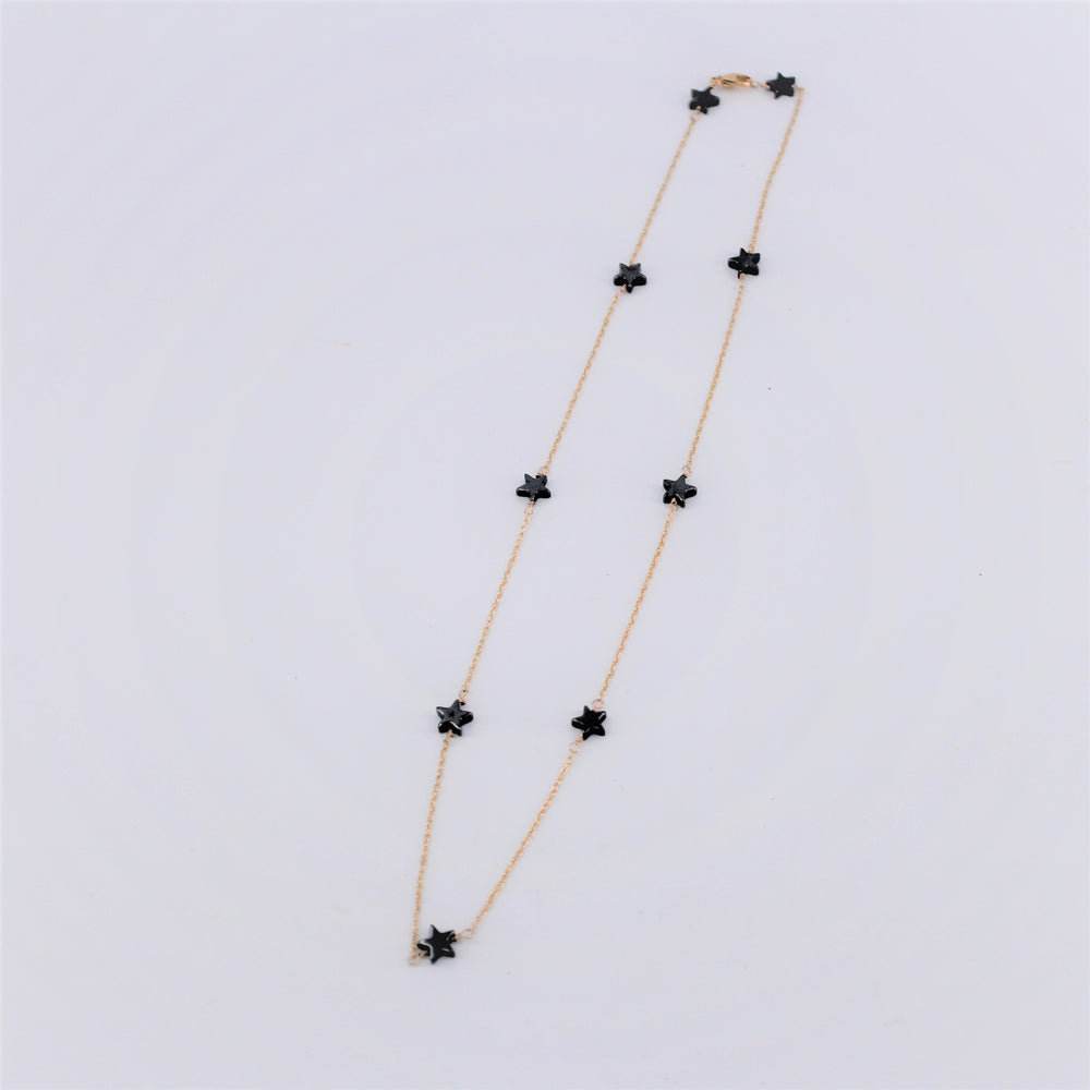 Hematite Star Beads Necklace