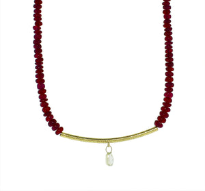 Ruby Cabochon Necklace