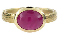 Ruby Carved Glacier Ring