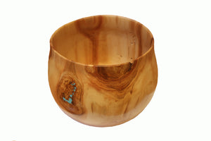 Aspen Wooden Bowl with Turquoise Accents