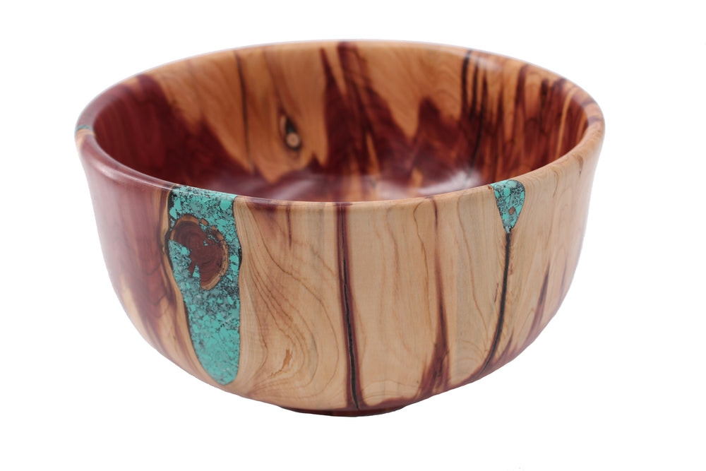 Cherry Burl with Turquoise Inlay