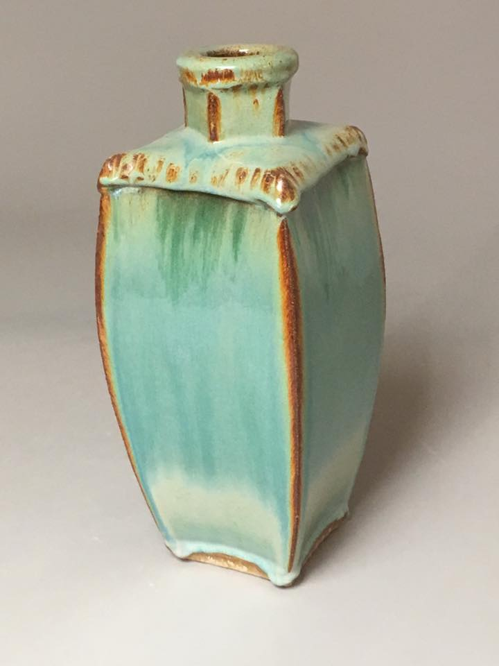 Green Bottle Vase