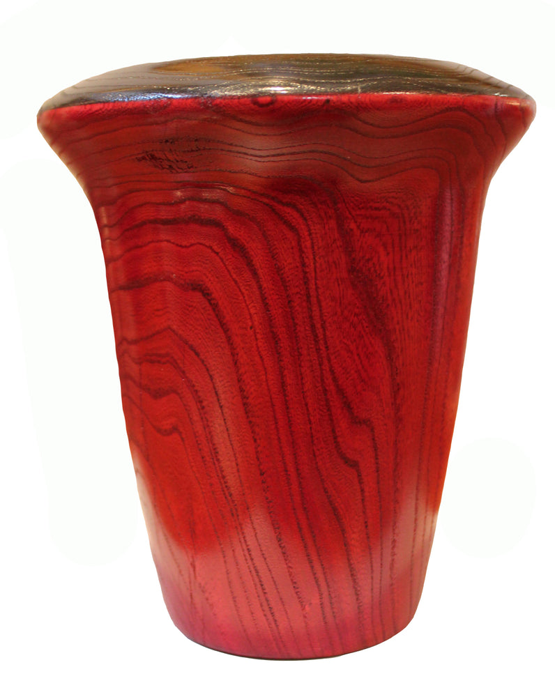 Dyed Elm Wood Vase