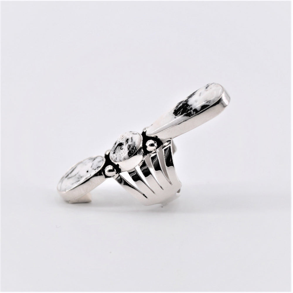 White Buffalo Three Stone Ring