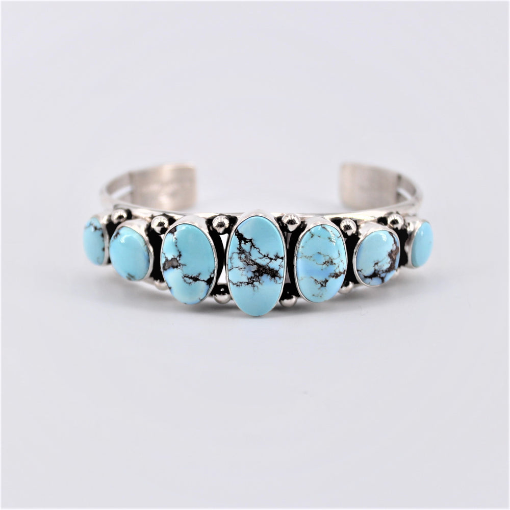 Golden Hill Turquoise Seven Stone Cuff