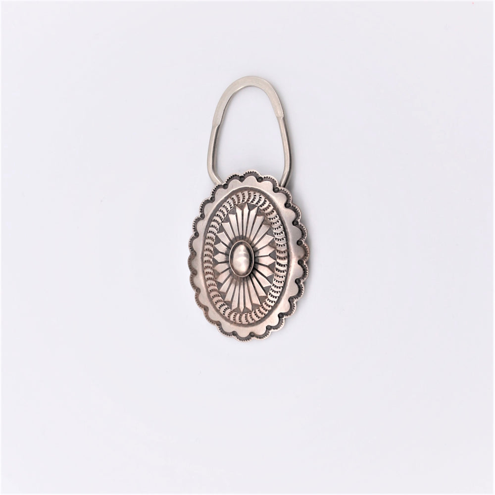 Sterling Silver Concho Keyring