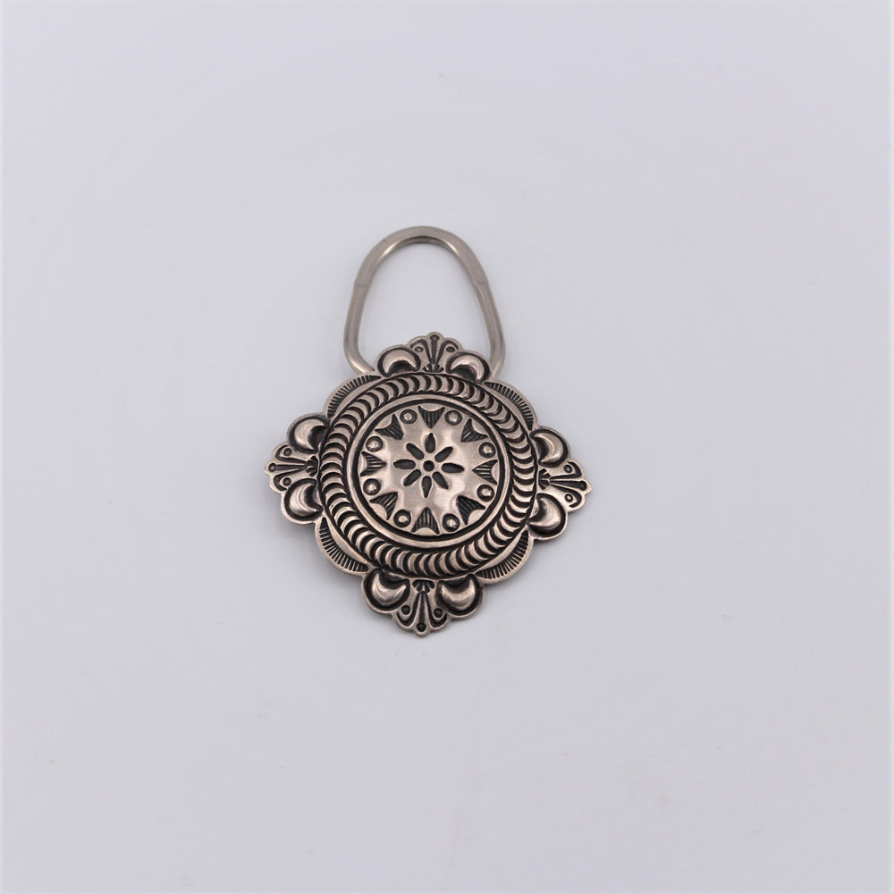 Sterling Silver Square Concho Keyring