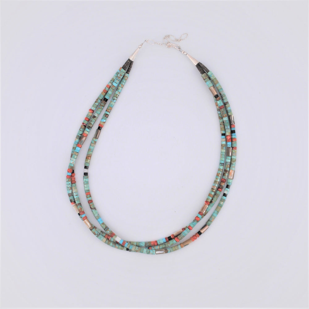 Mixed Gemstone and Turquoise Necklace