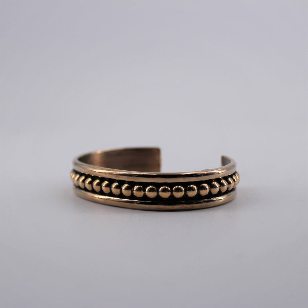 Brass Beaded Cuff