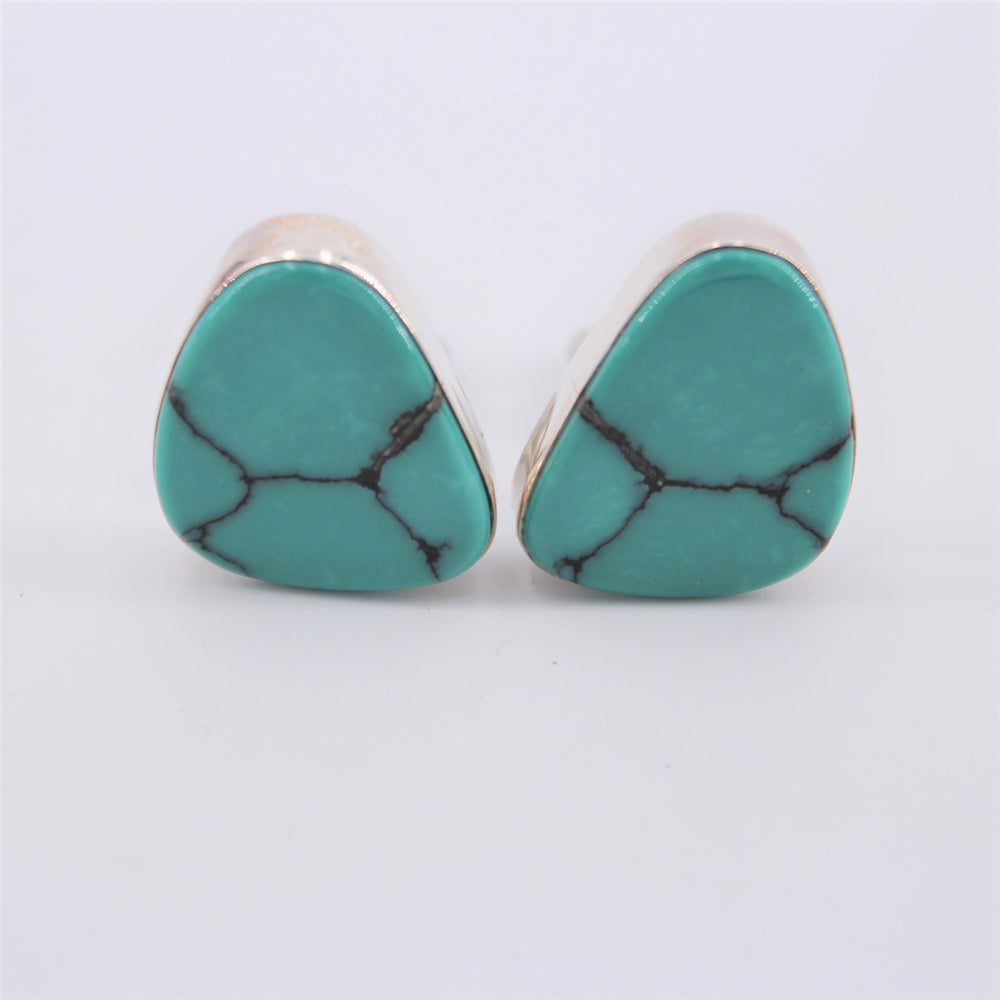 Green Turquoise Clip-on Earrings