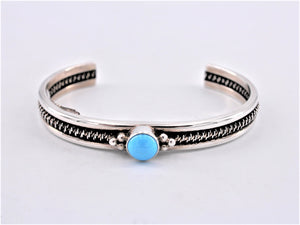 Sterling Silver & Sleeping Beauty Turquoise Cuff