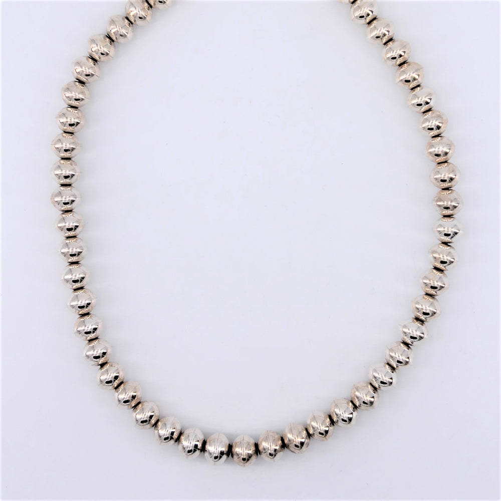 16in.  Sterling Silver Navajo Pearl Necklace