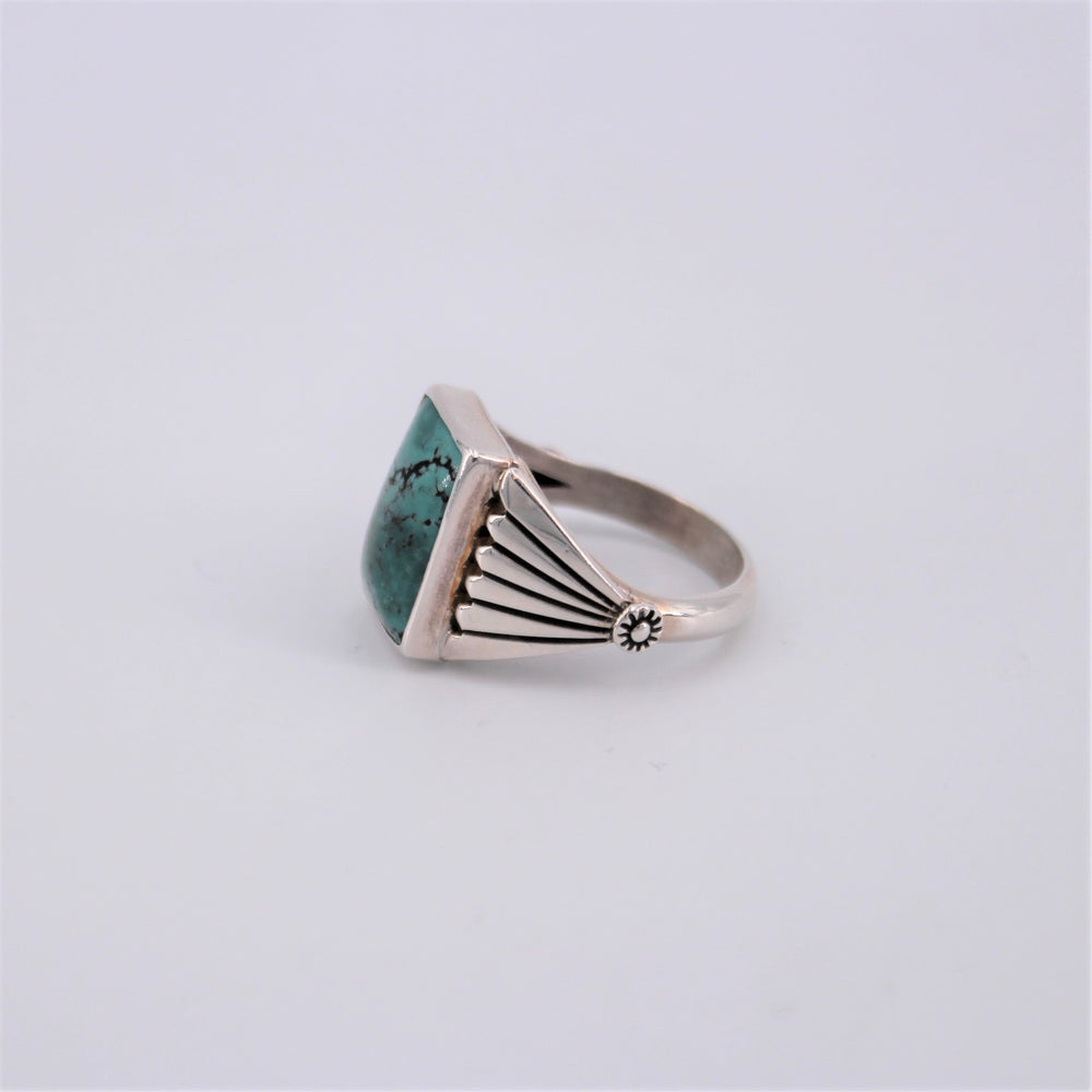 Green Turquoise Rectangle Ring