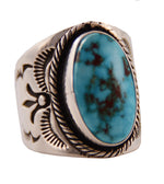 Sterling Silver Kingman Turquoise Cigar Band