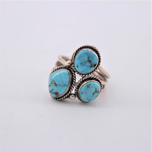 Three Stone Turquoise Ring