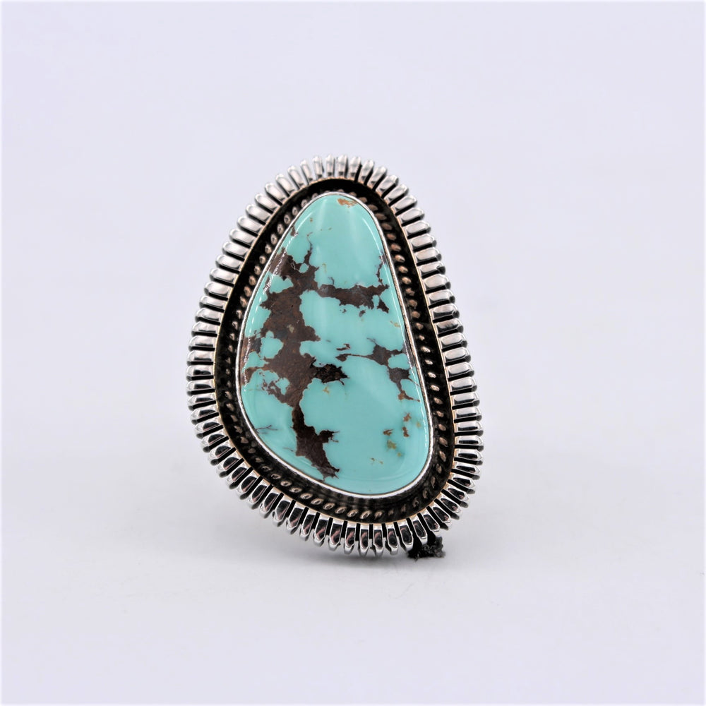 Turquoise & Sterling Silver 'Egg' Ring