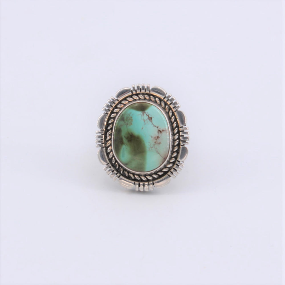 Royston Turquoise Rope & Cutout Ring