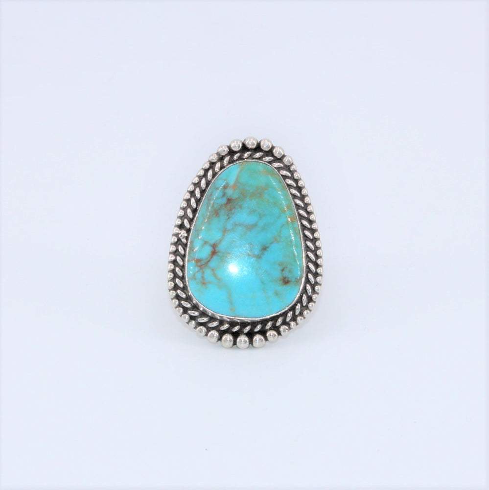 Turquoise 'Egg' Rope Ring