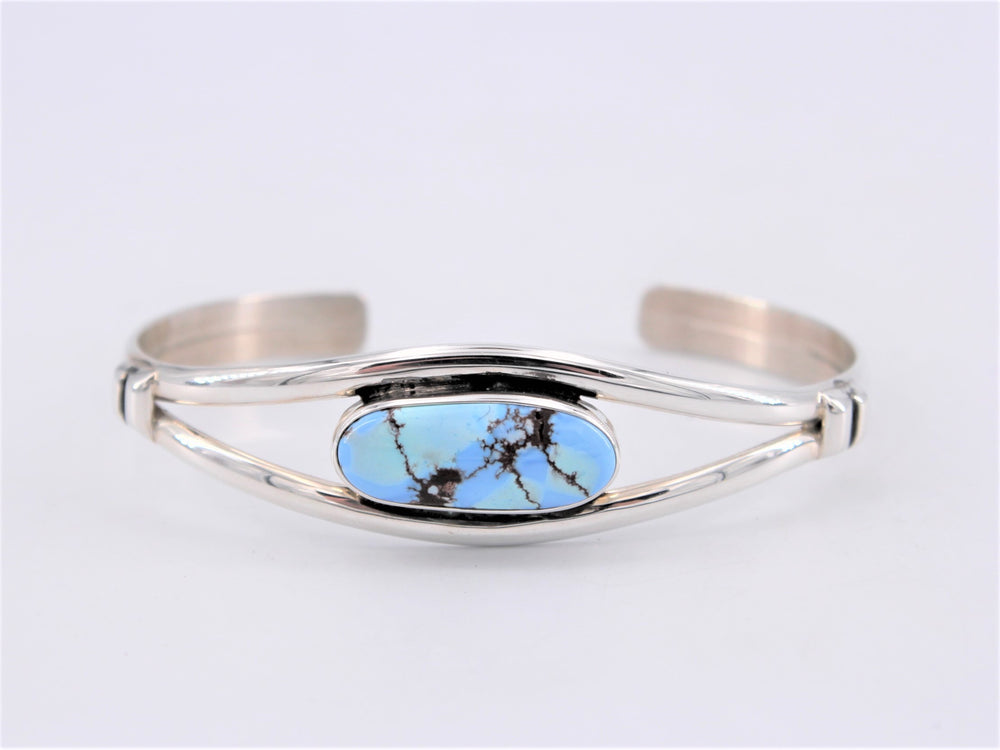 Golden Hills Turquoise & Sterling Silver Oval Cuff