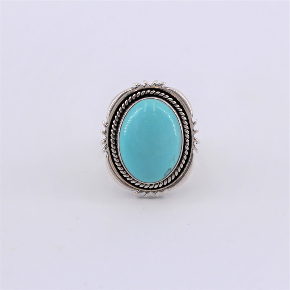 Halo Turquoise Ring