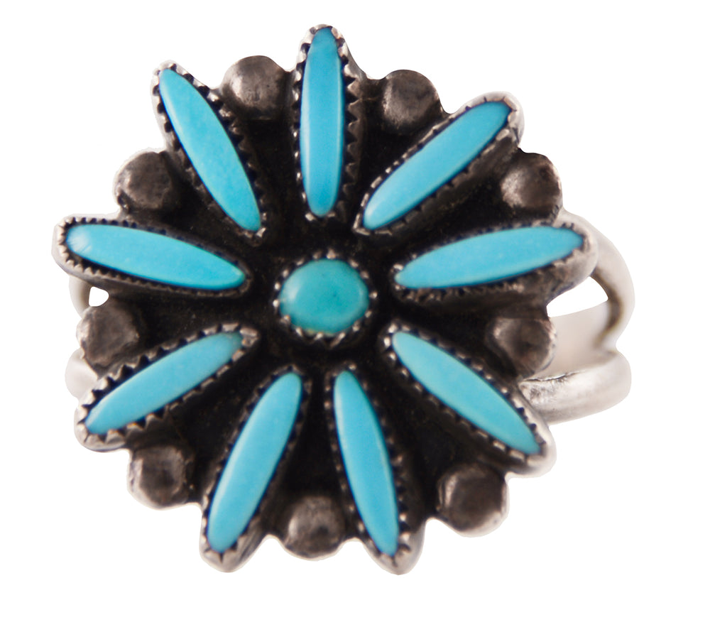 Sterling Silver Zuni Flower Ring