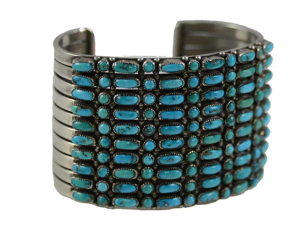 Sterling Silver Zuni Petti Point Cuff