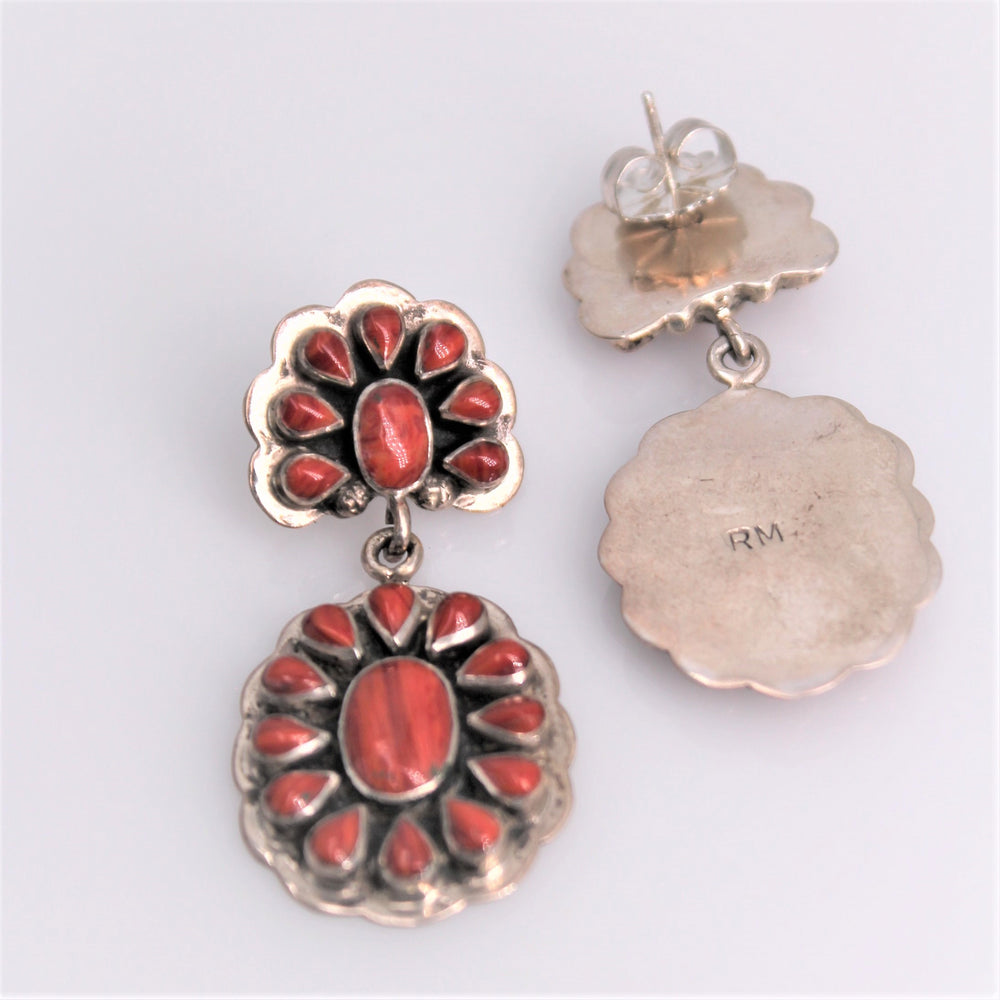 Red Spiny Oyster Earrings