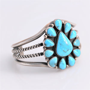 Turquoise Cluster Three Band Cuff