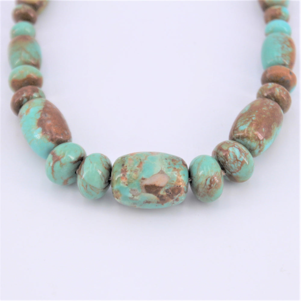 Varied Green Turquoise Necklace