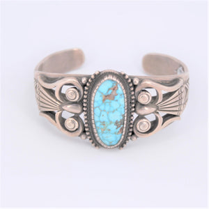 Deco Style Turquoise Cuff