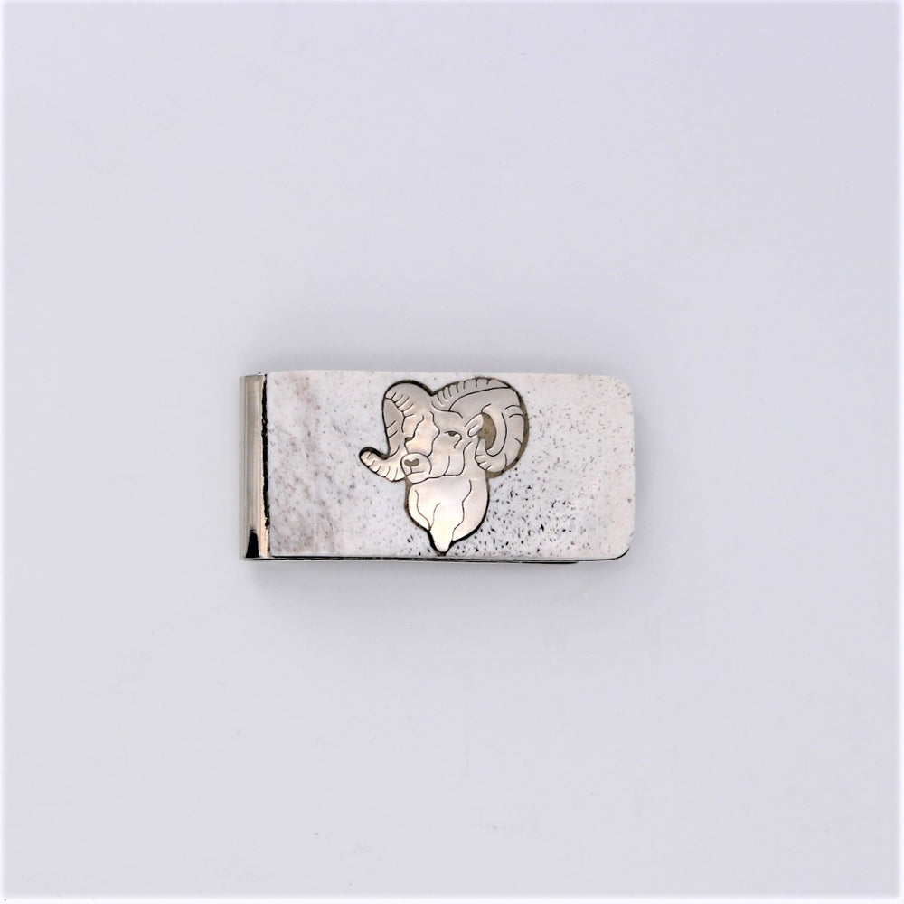 Antler & Sterling Silver Money Clip