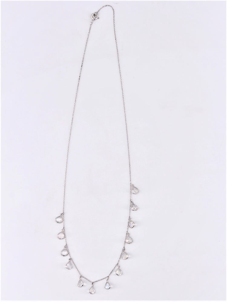 Moonstone Dangle Necklace