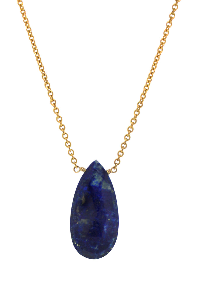 Lapis Pear Necklace