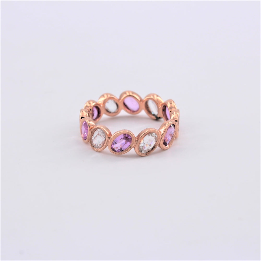 Pink and White Sapphire Ring