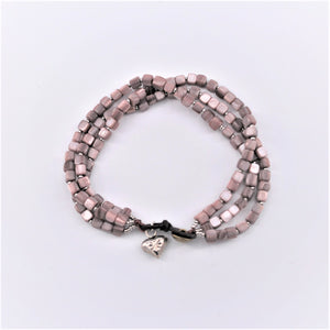 Shell Square Beaded Bracelet