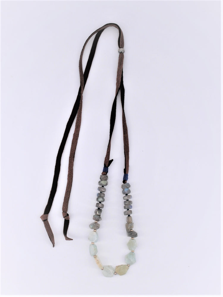 Labradorite and Calcite Necklace