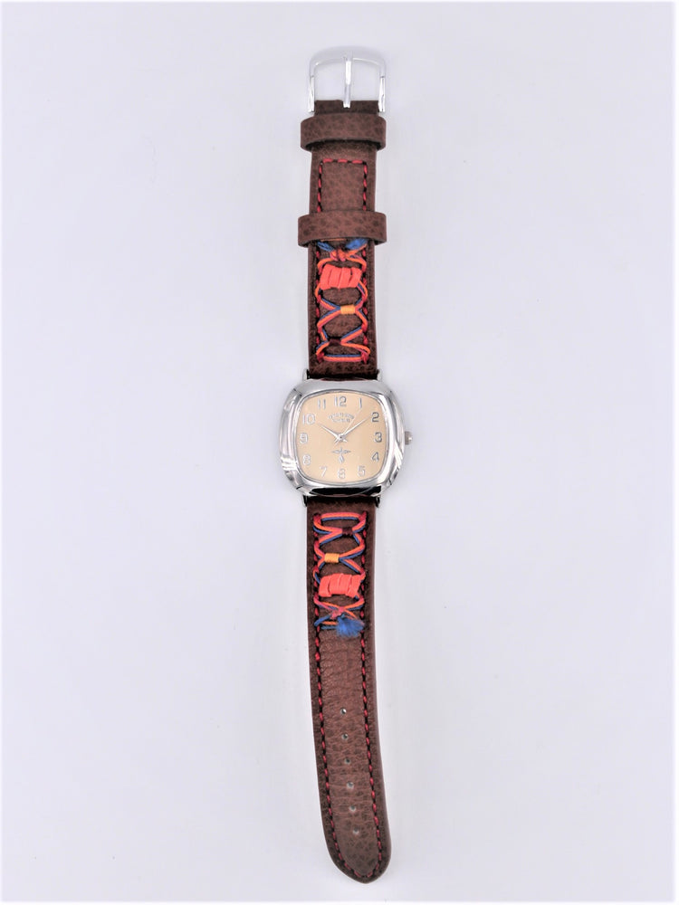 Leather Stitched Watch