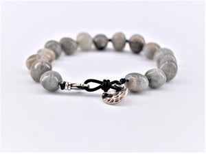 Labradorite and Agate Mixed Bracelet