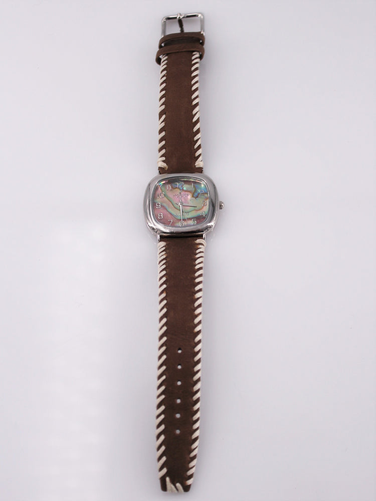 Abalone Leather Watch