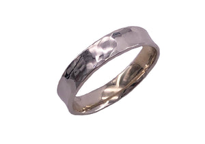 Narrow Silver Vale Ring
