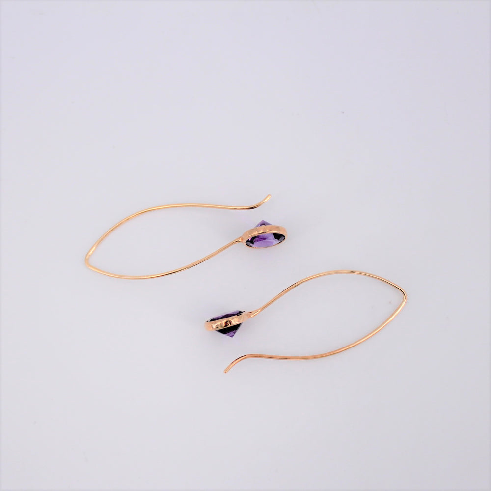 Eco Gold Amethyst Earrings