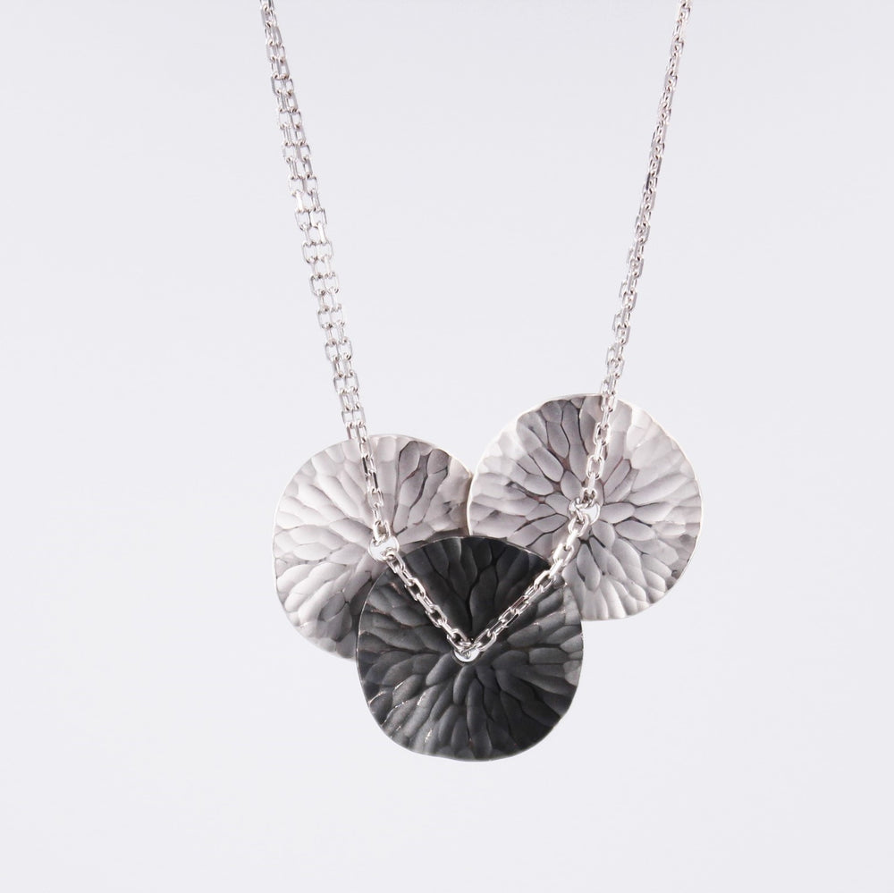 EcoSilver Three Disc Necklace