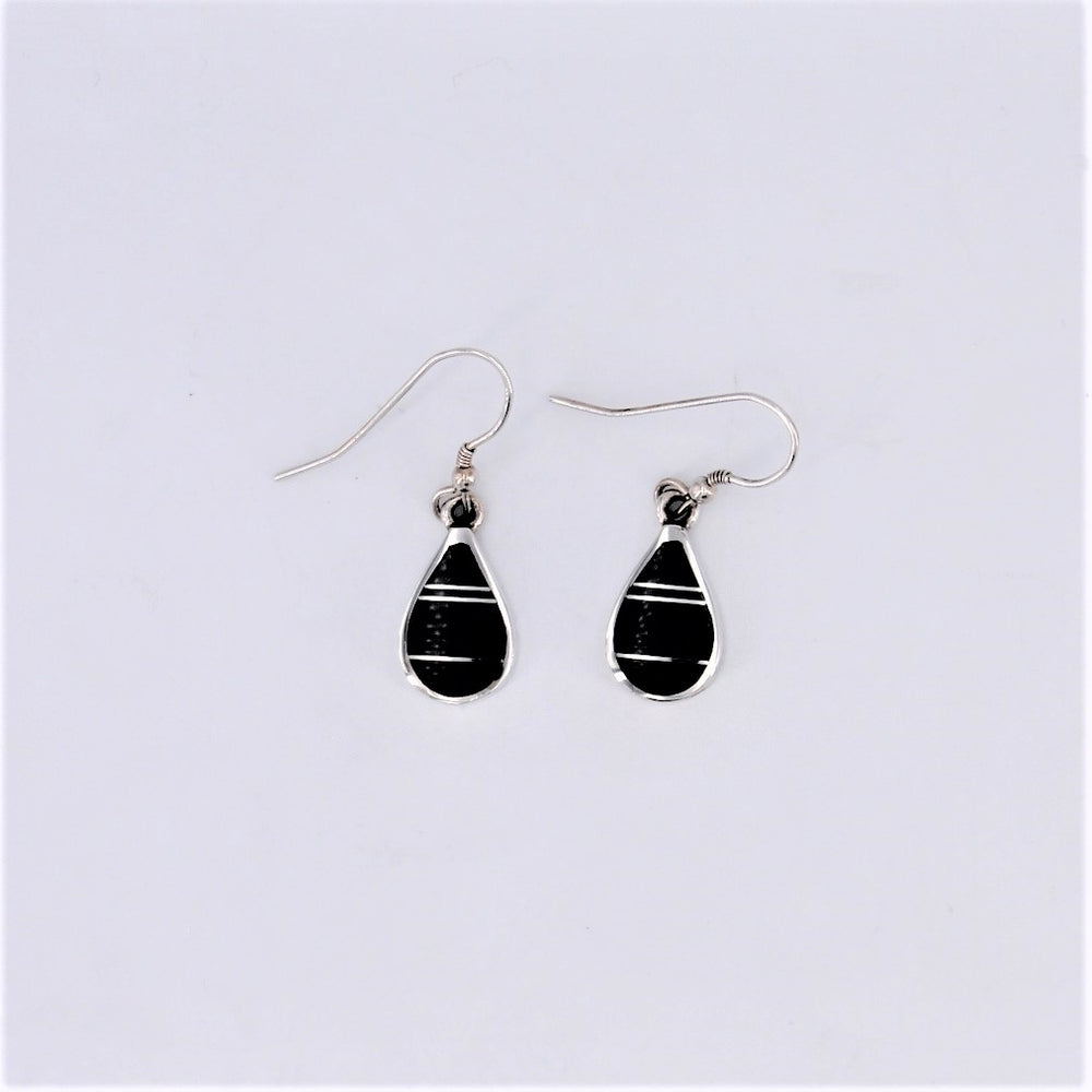 Black Jade Dangle Earrings